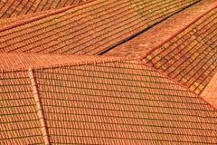Opinión sobre tejados tejados rojos de Oporto fotografía de archivo