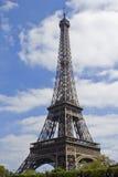 Opinión sobre torre Eiffel Fotos de archivo