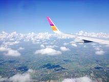 Opinión sobre un avión Imagen de archivo libre de regalías