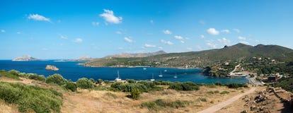 Opinión sobre un golfo en el Mar Egeo imágenes de archivo libres de regalías