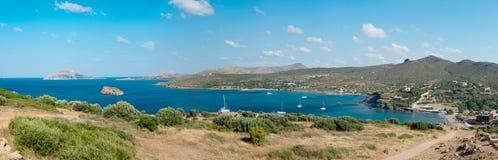 Opinión sobre un golfo en el Mar Egeo fotos de archivo libres de regalías
