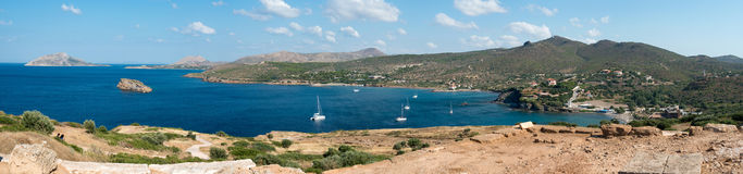 Opinión sobre un golfo en el Mar Egeo foto de archivo