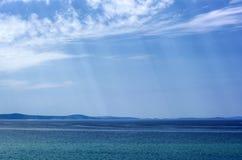Opinión sobre un mar de Jadran Imágenes de archivo libres de regalías
