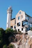 Opinión sobre una parte de la isla de Alcatraz Fotografía de archivo