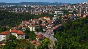 Opinión sobre Veliko Tarnovo Foto de archivo libre de regalías
