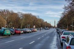 Opinión sobre Victory Column en Berlín (Berlín Siegessäule) Foto de archivo