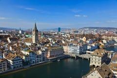 Opinión sobre Zurich foto de archivo