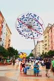 Opinión Sofia Bulgaria de la calle de Vitosha Imagen de archivo