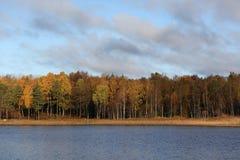 Opinión sueca del lago Imágenes de archivo libres de regalías