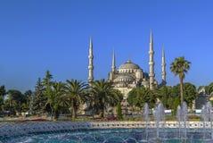 Opinión Sultan Ahmed Mosque, Estambul imagen de archivo libre de regalías