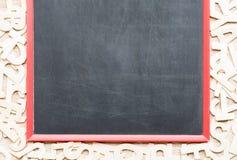 Opinión superior ABC sobre el blackbroad Fotografía de archivo libre de regalías