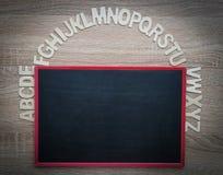 Opinión superior ABC sobre el blackbroad Imagenes de archivo