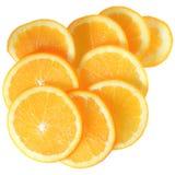 Opinión superior anaranjada de la rebanada madura imágenes de archivo libres de regalías