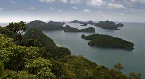 Opinión superior Ang Thong National Marine Park en Phang Nga Imagen de archivo libre de regalías