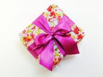 Opinión superior colorida de la caja de regalo con el fondo de la copia del espacio Fotos de archivo