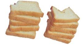 Opinión superior cortada del pan Fotos de archivo