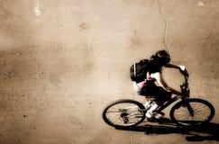 Opinión superior de Ciclist Imagen de archivo libre de regalías