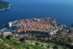 Opinión superior de Dubrovnik Fotos de archivo libres de regalías