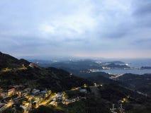 Opinión superior de Jioufen imagen de archivo