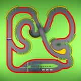 Opinión superior de Karting representación 3d Fotografía de archivo