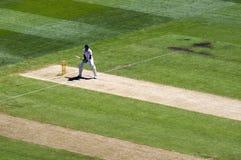 Opinión superior de Kevin Pietersen del bateador inglés Imagen de archivo