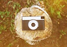 Opinión superior de la cámara retra Foto de archivo libre de regalías