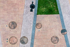 Opinión superior de la calle que camina Fotos de archivo libres de regalías