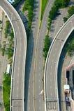 Opinión superior de la carretera imagen de archivo
