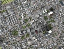 Opinión superior de la ciudad Fotografía de archivo libre de regalías
