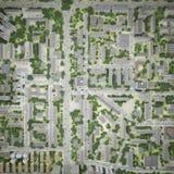 Opinión superior de la ciudad Fotos de archivo libres de regalías