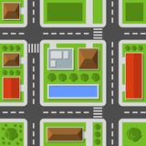 Opinión superior de la ciudad Modelo inconsútil del mapa de la ciudad Vector stock de ilustración