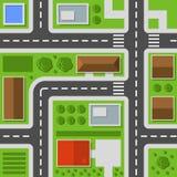 Opinión superior de la ciudad Modelo inconsútil del mapa de la ciudad Vector libre illustration