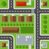 Opinión superior de la ciudad Modelo inconsútil del mapa de la ciudad Vector ilustración del vector