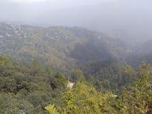 Opinión superior de la colina de la gama de kura foto de archivo