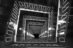 Opinión superior de la escalera espiral Fotografía de archivo libre de regalías