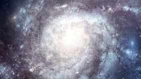 opinión superior de la galaxia del espacio 4K stock de ilustración
