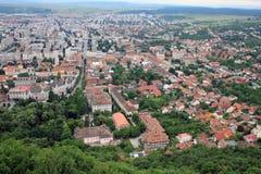 Opinión superior de la gran ciudad imagenes de archivo