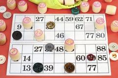 Opinión superior de la loteria Imagen de archivo libre de regalías