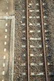 Opinión superior de la pista ferroviaria Fotos de archivo libres de regalías