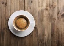 Opinión superior de la taza de café Fotografía de archivo