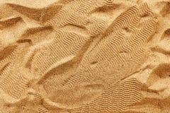 Opinión superior de la textura de la arena de la playa fotografía de archivo libre de regalías