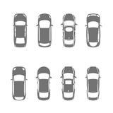 Opinión superior de los coches Fotografía de archivo