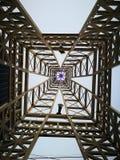 OPINIÓN SUPERIOR DE LOS EDIFICIOS DE ACERO Imagen de archivo