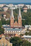 Opinión superior de Riga Imagen de archivo libre de regalías