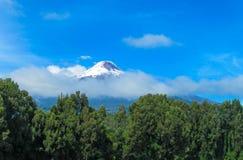 Opinión superior de Volcano Osorno imagen de archivo