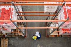 Opinión superior de Warehouse fotografía de archivo libre de regalías