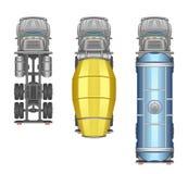 Opinión superior del camión ilustración del vector