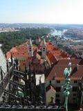 Opinión superior del castillo de Praga Imagen de archivo libre de regalías