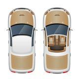 Opinión superior del coche Imagen de archivo libre de regalías