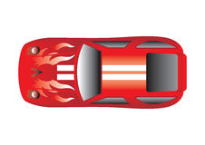 Opinión superior del coche deportivo Imágenes de archivo libres de regalías